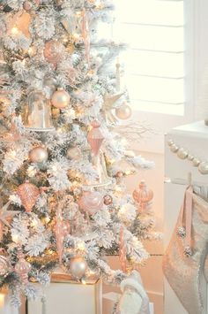 Pretty in Pink Christmas Tree. Okay, Fine. Rose Gold