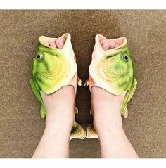 Fish Animal Slippers Summer Beach Sandals Shower Slippers Non-slip Funny Beach Shoes Wear for Women Men * To view further for this item, visit the image link. (This is an affiliate link) Green Fashion, Women's Summer Fashion, Beach Fashion, Fish Flip Flops, Shower Slippers, Funny Shoes, Weird Shoes, Crazy Heels, Unique Shoes