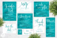 Printable Wedding Stationery Set | Phoebe Suite | Wedding Invite | Wedding…