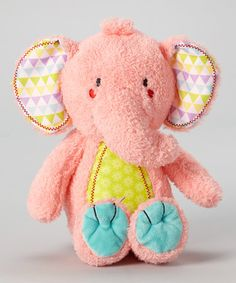 Look at this Pink Elephant Plush Doll on #zulily today!