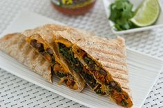 21 Delicious Vegan Dinners Made with Sweet Potatoes Kale And Sweet Potato Quesadillas