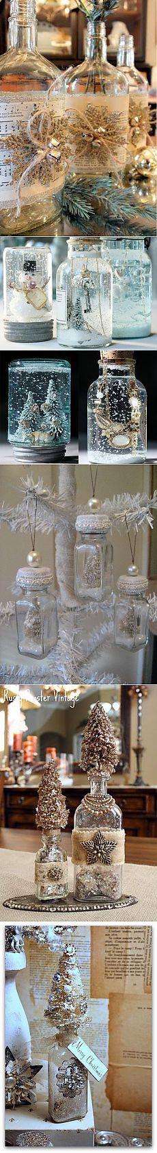 Рождественские и новогодние бутылки.