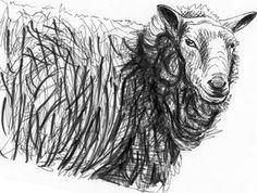 Henry Moore Sheep VI by on DeviantArt Animal Drawings, Art Drawings, Pencil Drawings, Henry Moore Drawings, Sheep Drawing, Drawings Pinterest, Sheep Art, 2d Art, Art Techniques