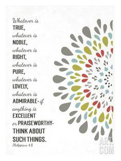 Art.fr - Giclée 'Whatever is True, Whatever is Noble' par Emily Burger