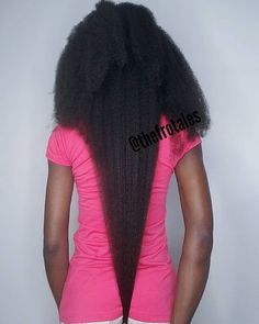 Natural Hair Regimen, Long Natural Hair, Cabello Afro Natural, Curly Hair Styles, Natural Hair Styles, Hair Shrinkage, Waist Length Hair, Natural Afro Hairstyles, Black Hairstyles