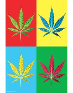 Weed Pop Art Poster