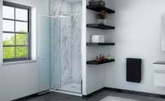 The Lucca Infold Shower offers a space-saving solution without compromising on a distinctive sleek bathroom interior. The shower infolds comfortably into the enclosure of the shower. Bathroom Interior, Modern Bathroom, Bathroom Collections, Smooth Lines, Shower Enclosure, Single Doors, Shower Doors, Lucca, Bathroom Inspiration