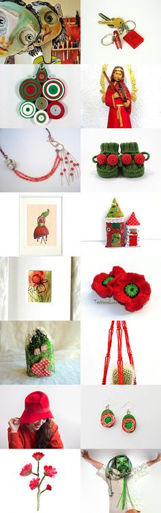 Unique Christmas Items by Marlena Rakoczy on Etsy--Pinned with TreasuryPin.com