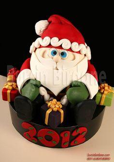 bolo decorado para o natal