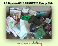 20 Tips To A Successful Garage Sale written by someone who's been to A LOT of garage sales @Clair O'Neill @ Mummy Deals #garagesales #bargain