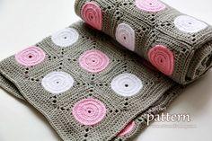 New Pattern – Crochet Polka Dot Blanket