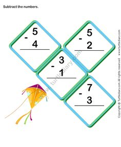 Finding Difference of Two One Digit Numbers Worksheet Online Games For Kids, Learning Games For Kids, Fun Math Games, Math Activities, Free Math Worksheets, Subtraction Worksheets, Kindergarten Math Worksheets, Maths, Addition And Subtraction Practice
