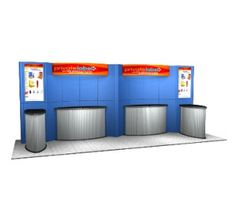 Visit Exhibitcorp for the Portable displays of your product. It is the best way to present your product and capture a large part of the crowd in a trade show.