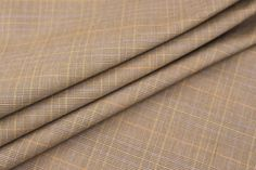 """100%+Cotton+-+60""""+Wide+Imported+Cotton+Plaid,+Brown+Background+(+2+1/2+yards+remaining+)"""