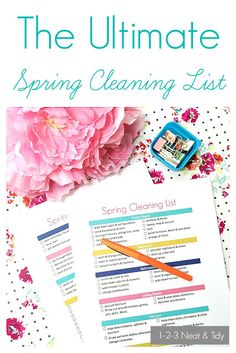 The Ultimate Spring Cleaning Checklist - Free Printable - Cleaning List - Getting Organized - Cleaning Tips and Tricks