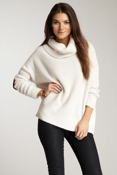 cropped boxy cowl sweater by Autumn Cashmere