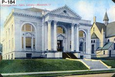 Front view of the Carnegie Free Public Library (the Mansfield/Richland County Public Library) prior to 1950 (Side note: Can we just say how much we love this photo?)