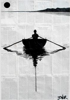 Illustrations par Loui Jover : Emotions, Papier Usé et Encre Noire