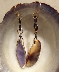 Dangle style shell earring by SandeeSavini on Etsy, $10.00
