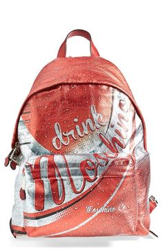 Free shipping and returns on 'Drink Moschino' Laminated Leather Backpack at Nordstrom.com. Newly helmed creative director Jeremy Scott truly puts the pop in pop culture with this satisfyingly chic backpack, part of Moschino's fizzy Spring/Summer 2015 collection. This playful take on an iconic soda can label—complete with nutritional table—is sure to quench your fashion thirst.