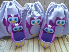 ArtPaz by Tania Paz: Mochila e centro de mesa #Coruja Owls Kids Party