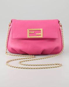 Fendi - Fendista Pouchette Crossbody Bag, Fuchsia - http://womenspin.com/handbags/fendi-fendista-pouchette-crossbody-bag-fuchsia/