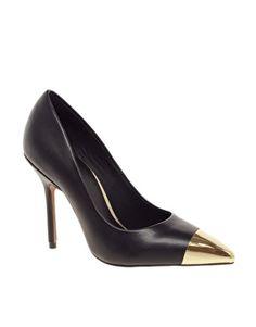 Enlarge ASOS PLUTO Pointed High Heels with Metal Toe Cap