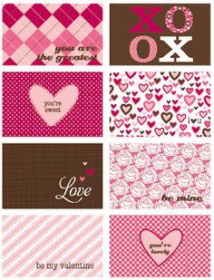 Mufn inc: FREE valentine card Download - thinking of making these into magnets or putting scrapbook paper on back and making a mobile.