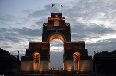 6/30/16*The Thiepval Memorial, which commemorates those who died at the Battle of the Somme. By the end of the four-month battle in northern France, more than a million soldiers had been killed and wounded on both sides