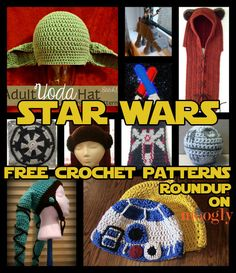 Free Star Wars Crochet Patterns - Roundup on Moogly! TOTALLY making some of this stuff for Christmas presents...I know too many people who love Star Wars! (mostly adults too) LOL  @Sheri | Pork Cracklins Hampton, if Sarah crochets, she would like these. :)