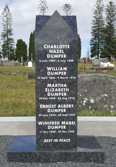 Five pointed Obelisk Headstone Auckland