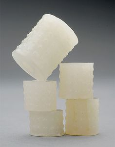Five White #Jade Beads, Han Dynasty, Estimate: $1,500/2,000 #asianart #michaans http://www.michaans.com/highlights/2013/highlights_06232013.php