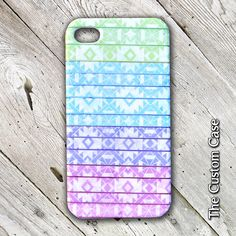 Blue, Pink, and Purple Tribal iPhone Case