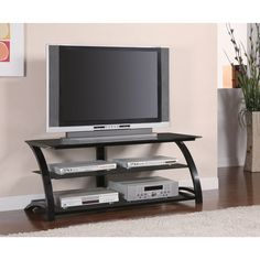 Coaster Metal Tempered TV Stand