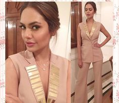 Nikhil thampi # Esha Gupta # evening out look # cocktail look #