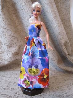 Pansy Flower Dress for Barbie