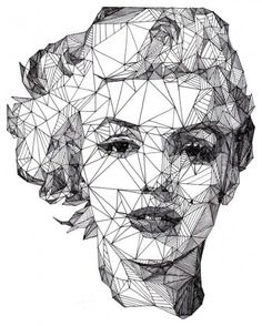 geometric portrait - Google Search