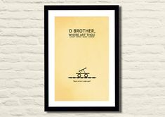 O' Brother Where Art Thou Movie Poster Art by LiltDesignCompany, $23.00