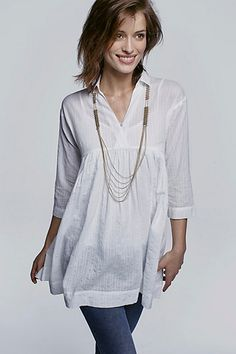 Blair Empire Top - do like a simple white blouse/tunic.  Makes me think of spring!