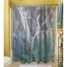 Thumbprintz Ombre Wildflowers 4 Polyester Shower Curtain