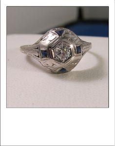 Antique Art Deco 18k Old European Cut Diamond by BellaJewelryShop, $499.00