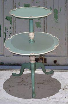 Chalk paint furniture make-over idea...beautiful 40s finish