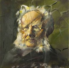 Håkon Gullvåg - portrait of playwright Henrik Ibsen. (Norwegian artist; born in Trondheim, 1959)