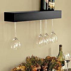 wall shelves for wine glasses - Google Search