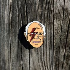 Bernie Stardust Enamel Lapel/Hat Pin by PINkParagonDesigns on Etsy