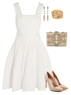 """""""All white"""" by allieofficial on Polyvore featuring Maje, Alexander McQueen, Fernando Jorge and Forever Unique"""