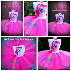 Pinkie Pie My little Pony tutu dress by MyDreamGirlsTutus on Etsy