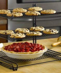 Loving this Nonstick Three-Tier Cooling Rack on #zulily! #zulilyfinds This would come in handy at Christmas