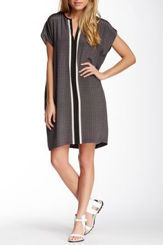 Printed Silk Shift Dress by VINCE on @nordstrom_rack