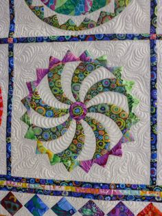"""Happy Daze"" was pieced by Marti Young and quilted by Flo Verge.  Design by Sue Garman.  Photo by Crayon Box Quilt Studio. MQX East 2015."